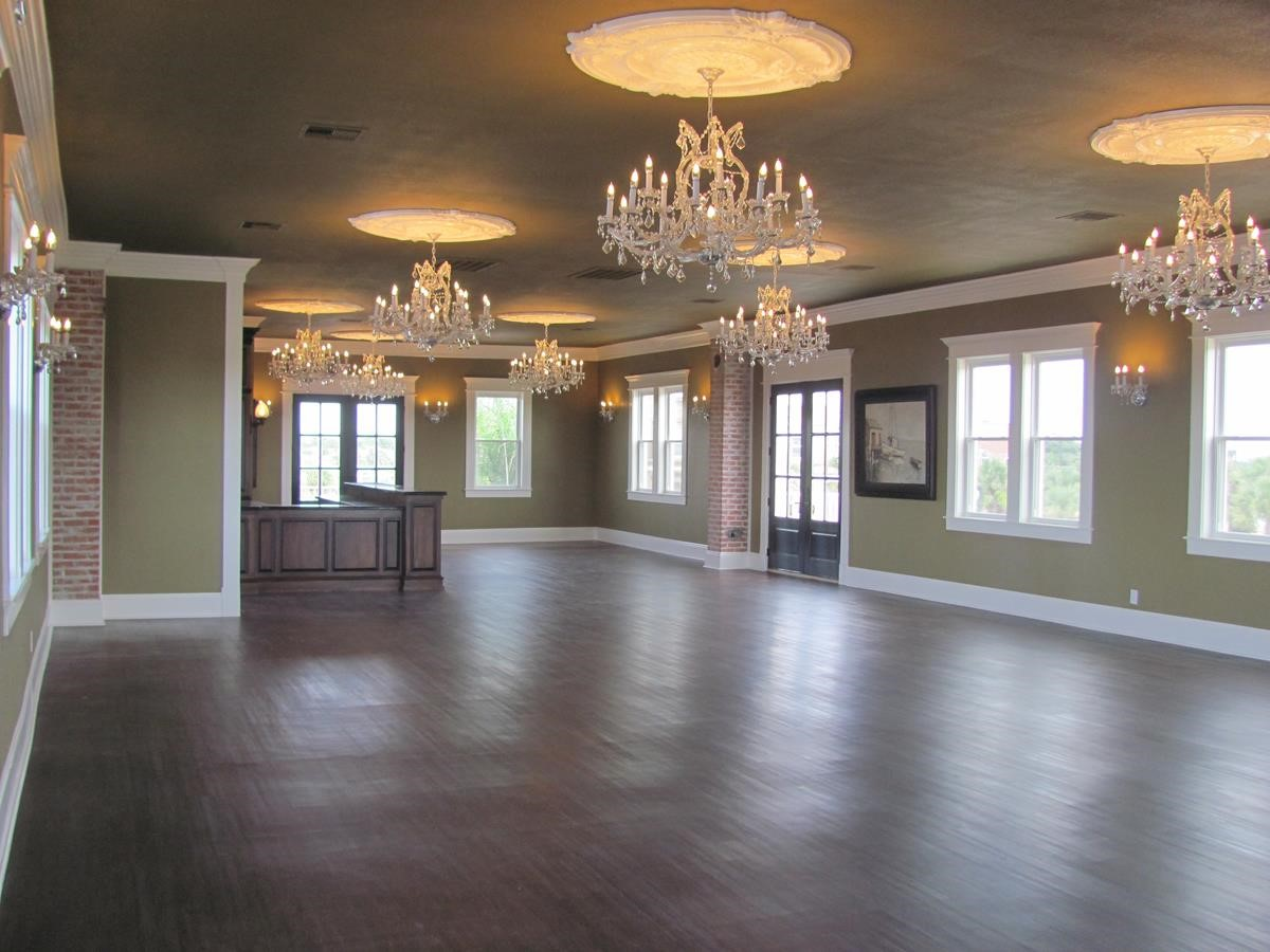 Heritage House Entertainment Room with Chandeliers